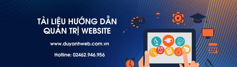 DUY ANH WEB – HƯỚNG DẪN QUẢN TRỊ WEBSITE TỪ A-Z